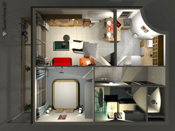 sweet-home-3d-vue3d-eclairage