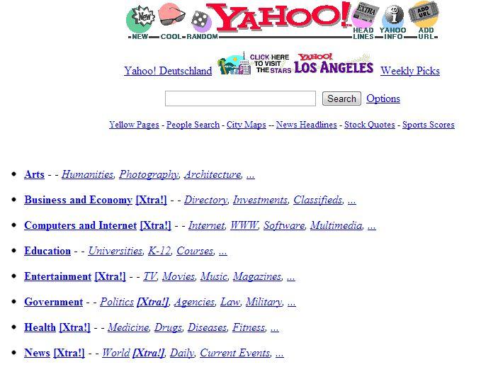 Yahoo, le 17 octobre 1997