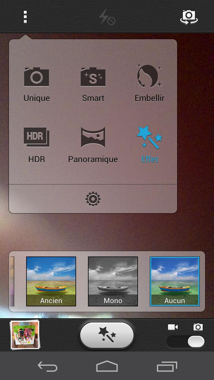 Mode de prises de vues du Huawei Ascend P6