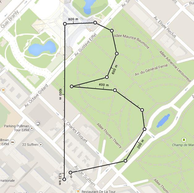 google-maps-points-distances