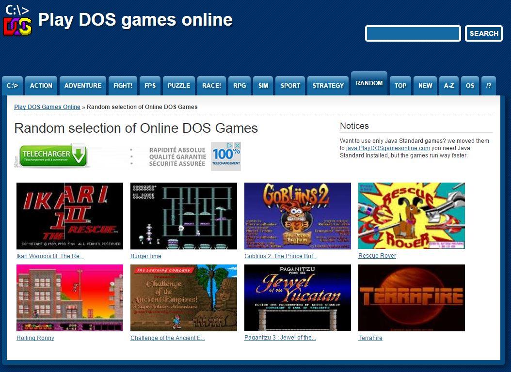 play-dos-games-online-random