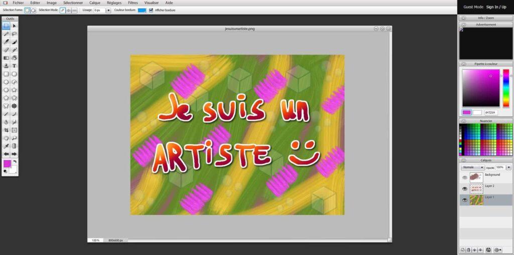 L'interface de Sumo Paint