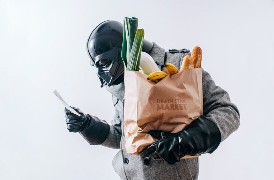 Dark Vador fait ses courses