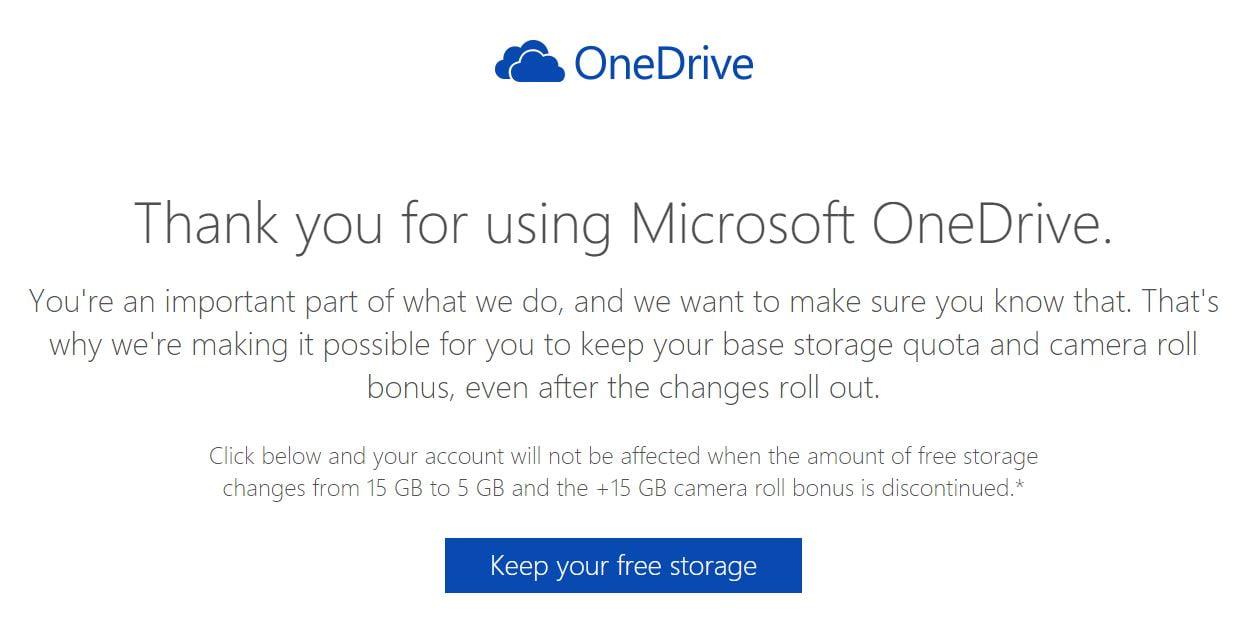 Conserver ses 15Go sur OneDrive