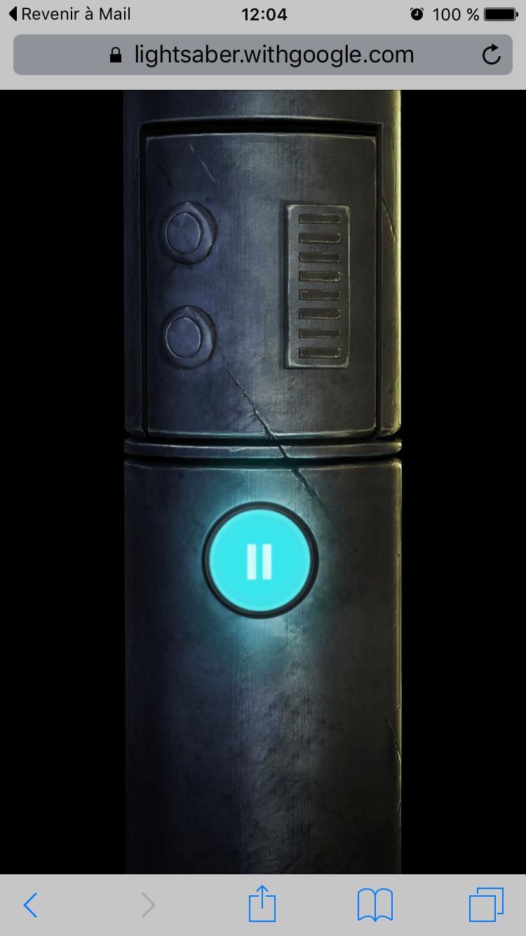 Sabre Laser sur smartphone