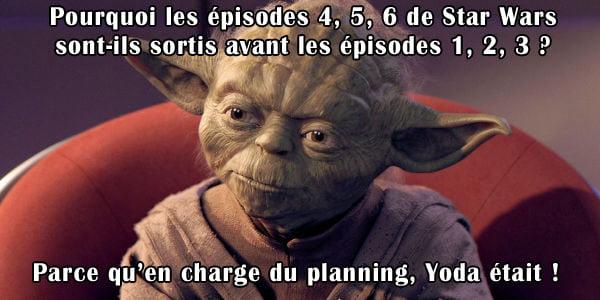 Ordre episodes Star Wars selon Yoda VF