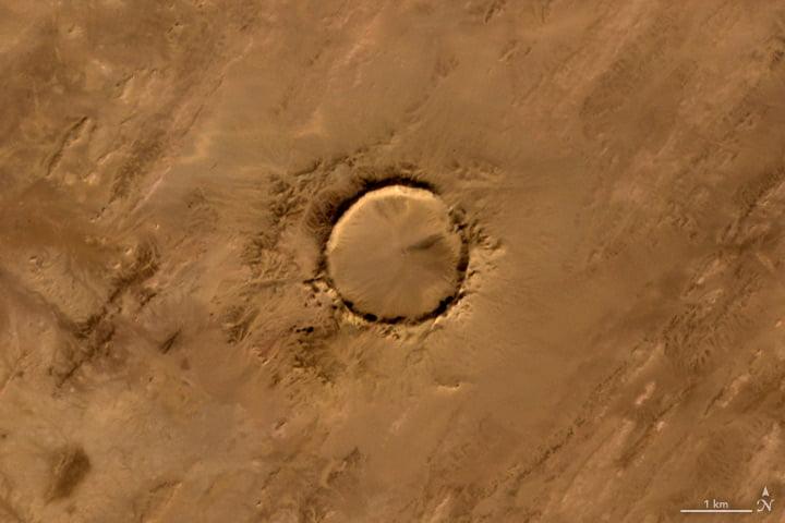 Cratère de Tenoumer (Mauritanie)