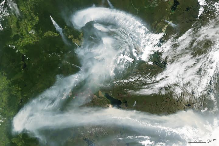 Fumées de feux de forêts (Canada)