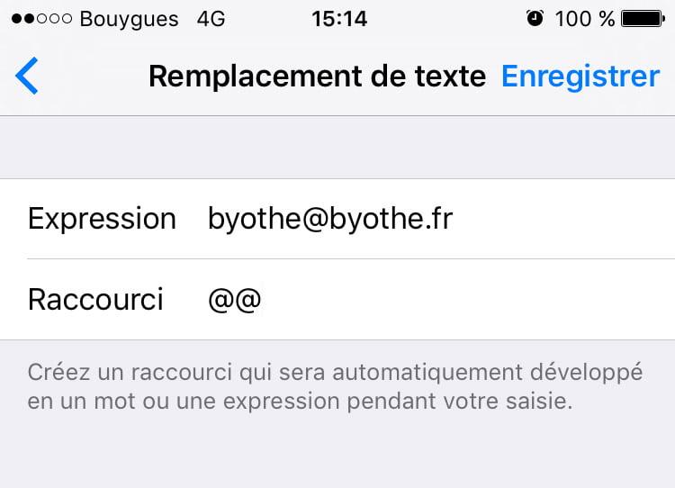 Astuce : simplifier la manière dont vous tapez votre adresse mail sur iOS