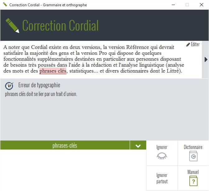 cordial-correction