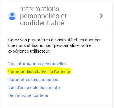 google-confidentialite