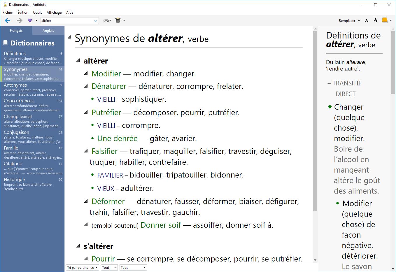 A10 FR Synonymes