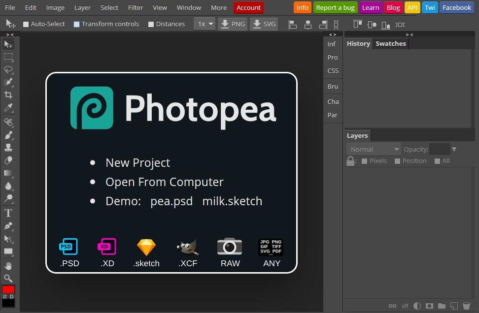 photopea editeur photo en ligne gratuit photoshop