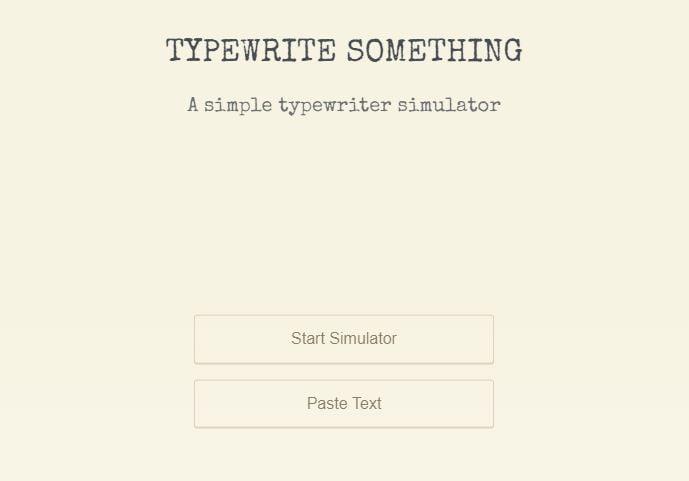 typewrite something accueil