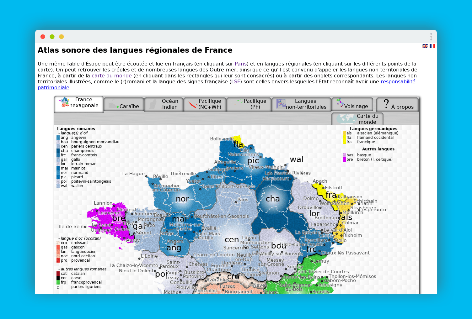 atlas sonore langues regionales france home