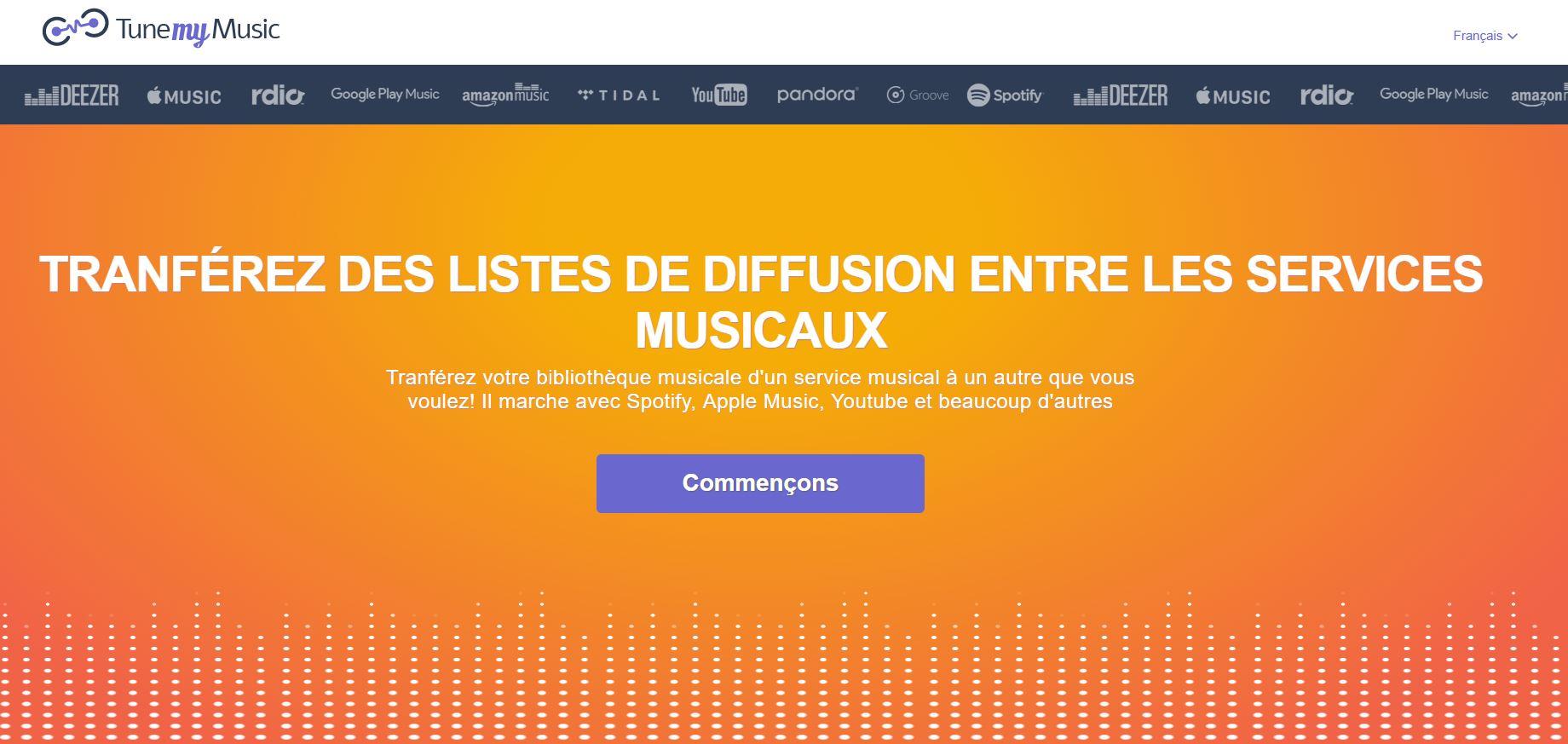 TuneMyMusic exporter playlist streaming