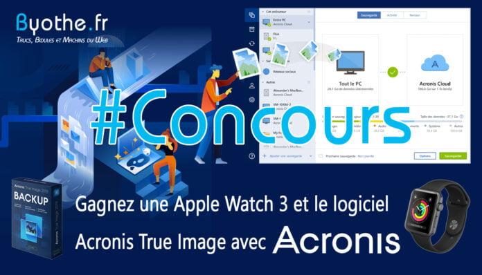 concours acronis true image apple watch