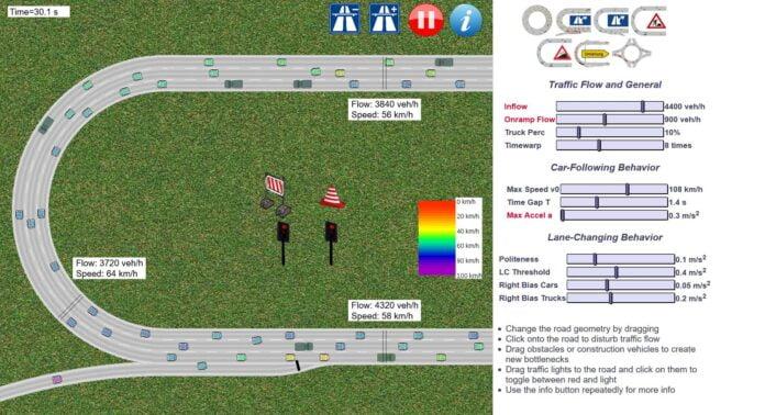 traffic simulation embouteillage