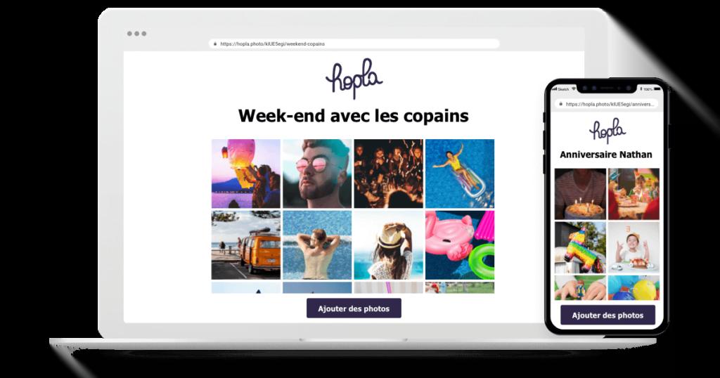 Hopla iphone laptop album photo