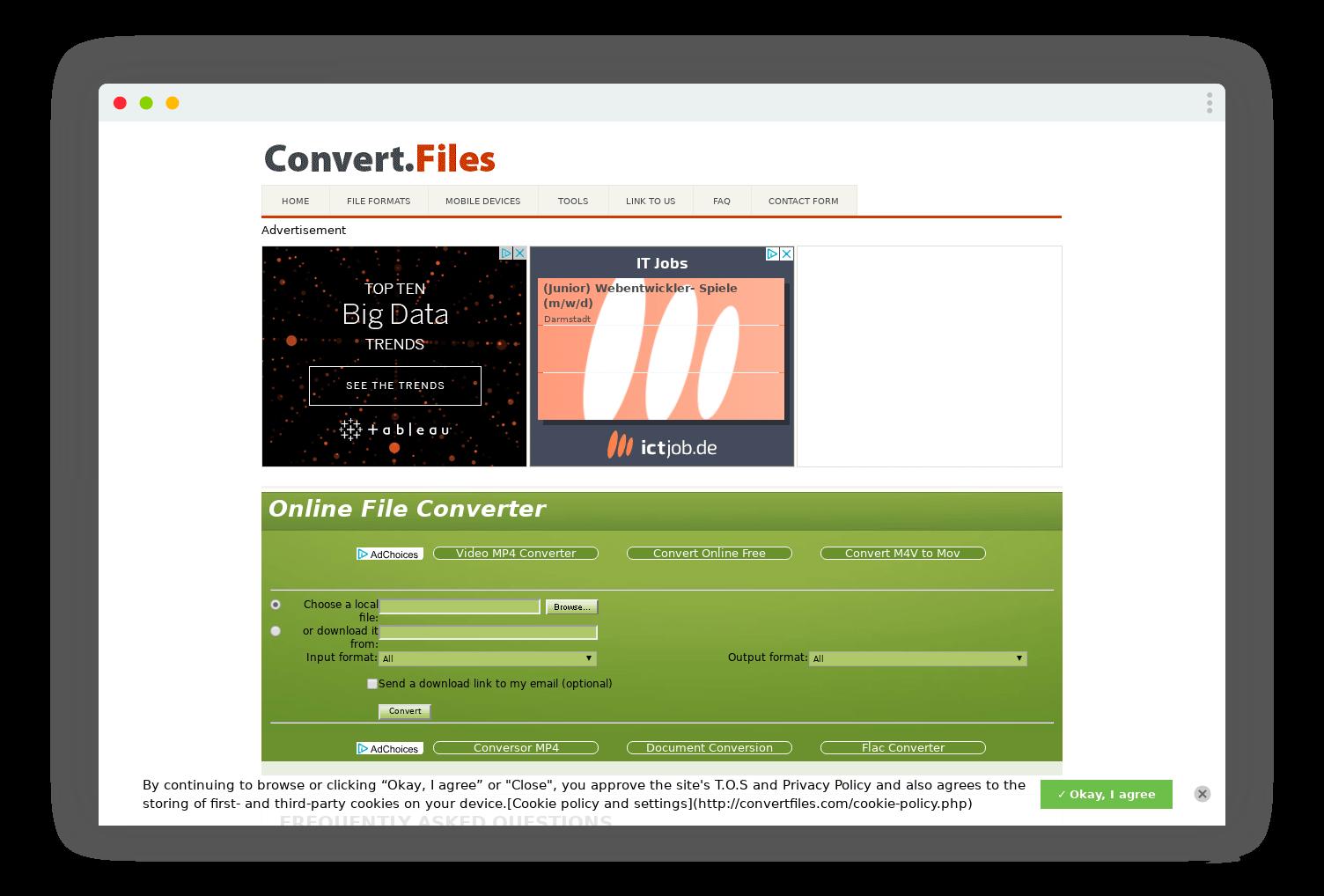 convertfiles conversion format