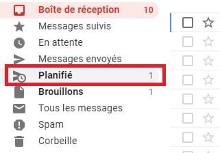 gmail programmer envoi planifie