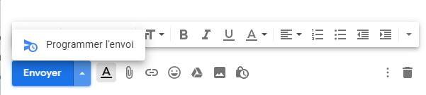 gmail programmer envoi