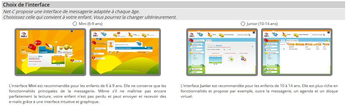 interface net c junior