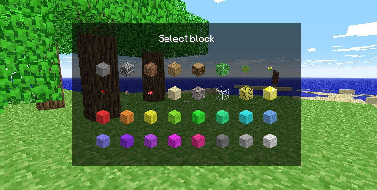 minecraft classic jeu blocs