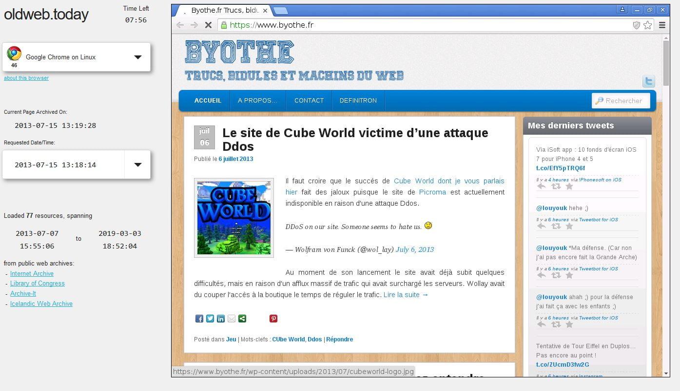 oldweb ancienne version site web