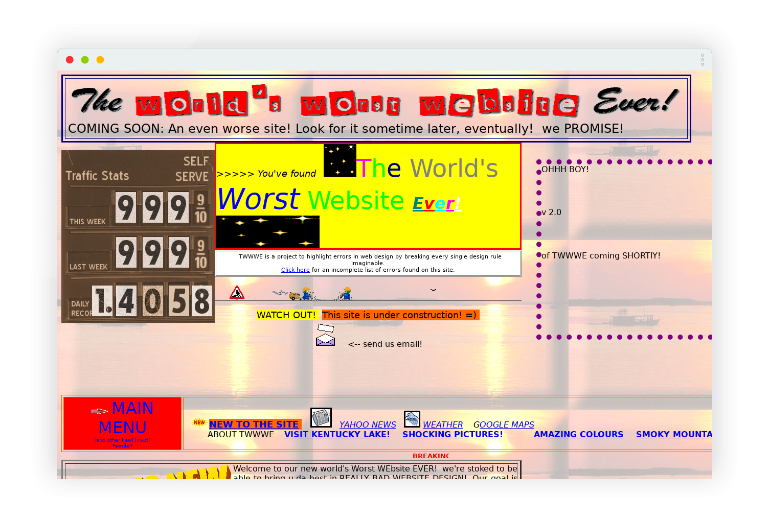 the worlds worst website