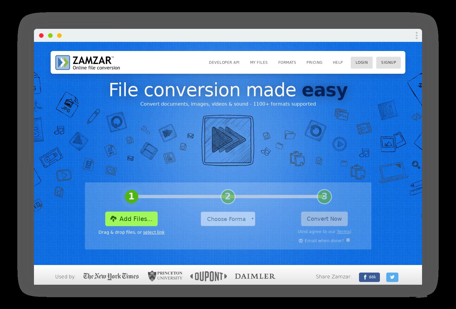zamzar conversion format