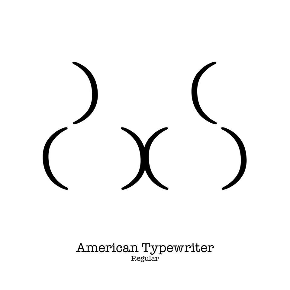 butt types american typewriter