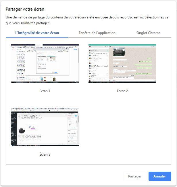 recordscreen ecran application