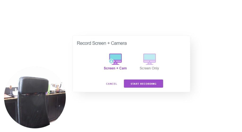 recordscreen ecran webcam