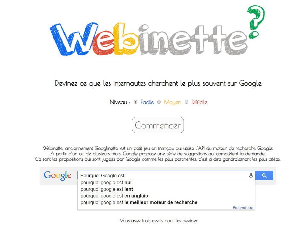 webinette google devinette