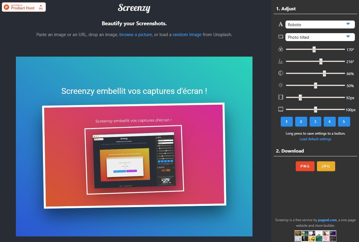 screenzy capture ecran interface