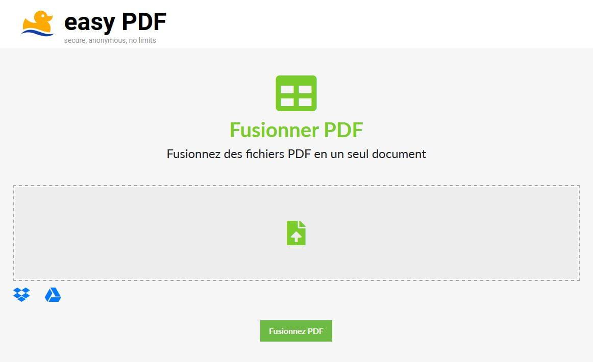 easy pdf convertisseur fusionner