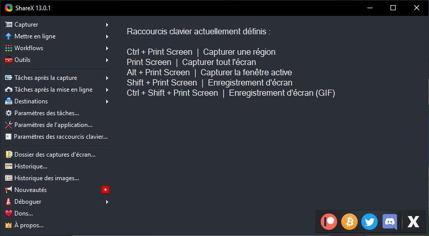 sharex capture ecran