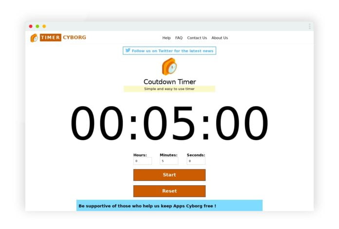 timer cyborg compte minute