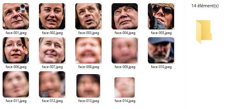 facemaze vignettes visages