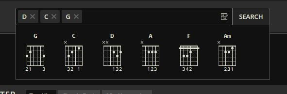 ultimate guitar recherche par accord