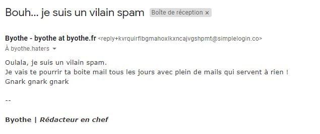 simplelogin spam