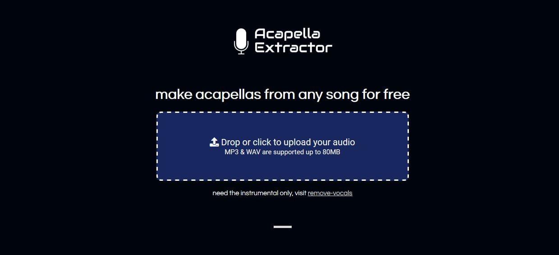acapella extractor home