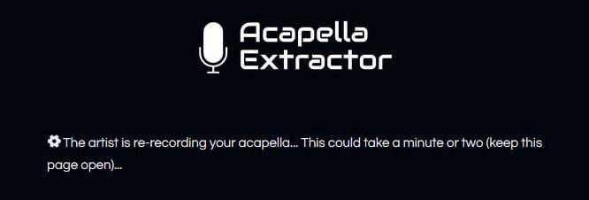 acapella extractor