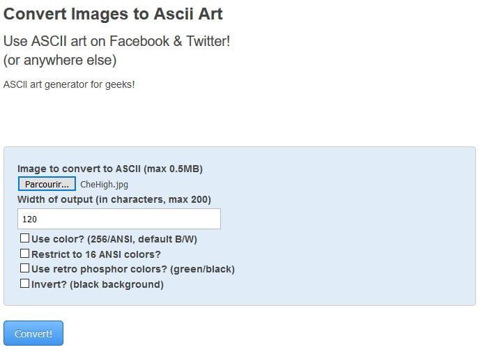 ascii art converter outil