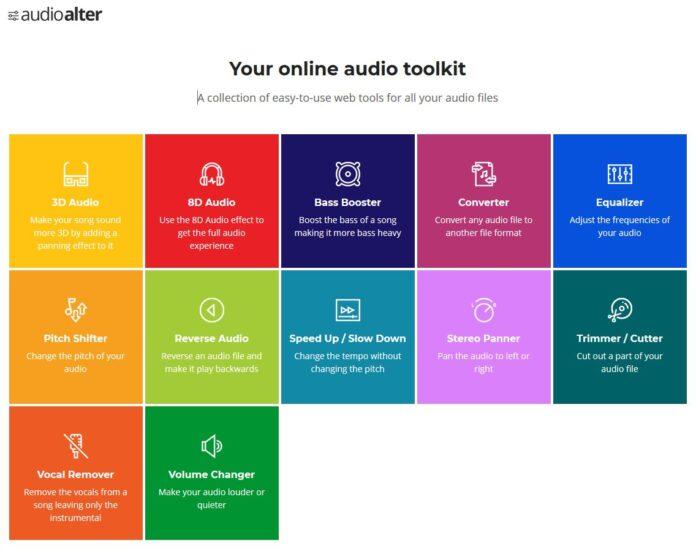 audioalter fichier audio