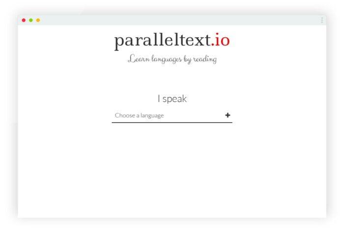 paralleltext apprentissage langue