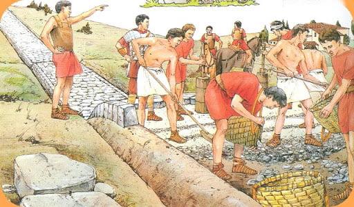 construction voie romaine
