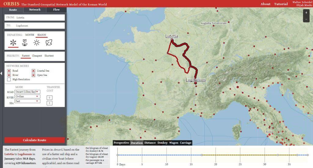 orbis google maps empire romain