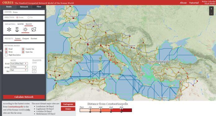orbis google maps empire romain home